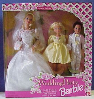 Wedding Gift Set Barbie : Barbie Barbie Wedding Party Gift Set Box # 13557 Value and Details