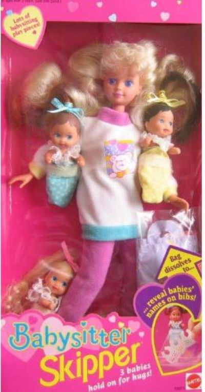 Barbie Babysitter Skipper Doll Babies Hold
