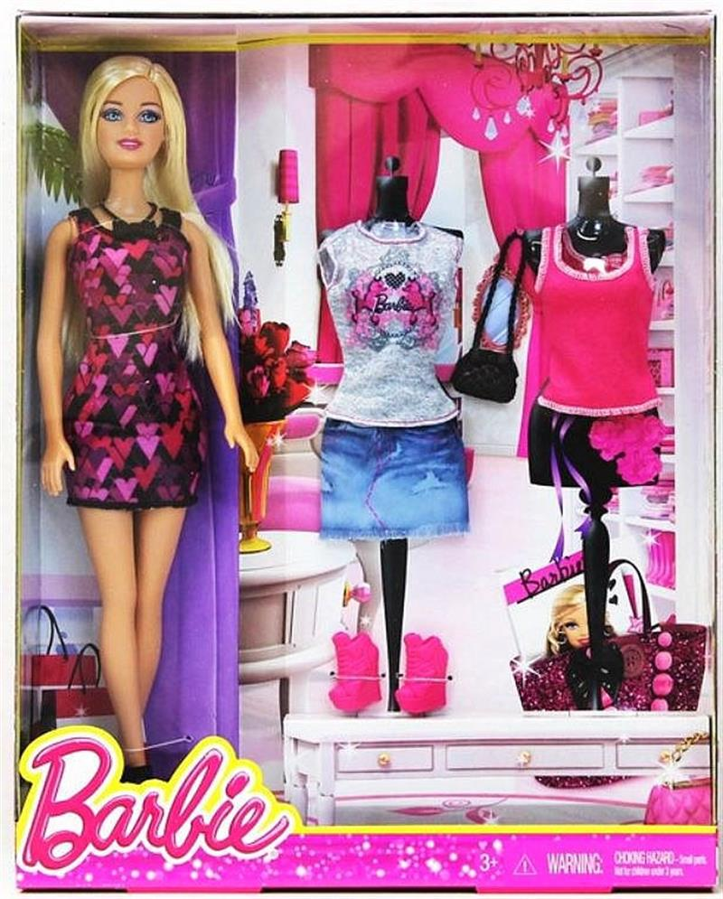 Barbie Barbie Blitz Fashion Doll Clothes Box # CFR90 Value